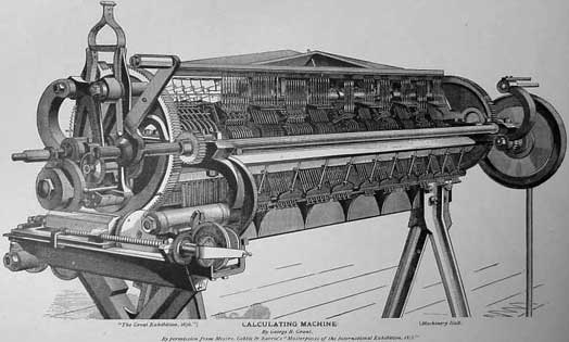 A drawing of the Difference Engine of George Grant
