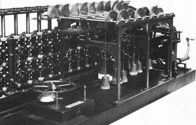 The Scheutz Difference Engine was powered by falling weights.