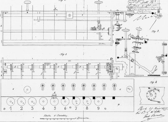 The patent drawing of Lobbe