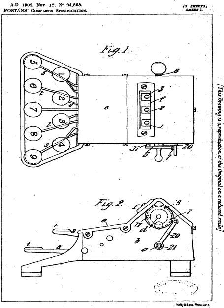 Adder patent drawing
