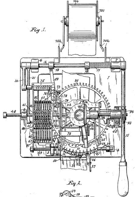 Lee Burridge and Newman Marshman patent drawing