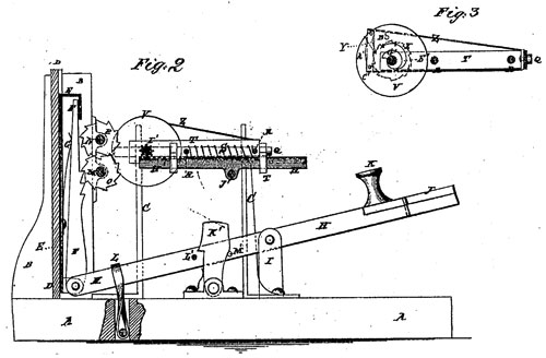 The patent drawing of Gilbert Chapin