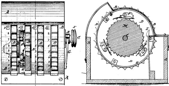 The patent drawing of the second Gilbert Chapin