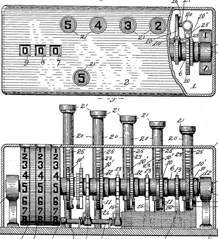The patent drawing of the third Gilbert Chapin
