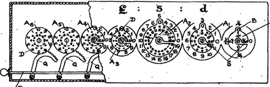 Computometer patent drawing