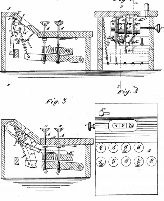 The patent drawing of David Carol