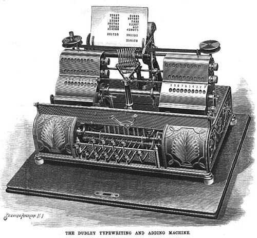 The adding and printing machine of George Wilson Dudley