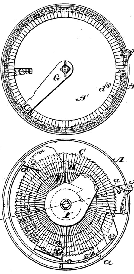 The tallying instrument of George Farmer (the patent model)