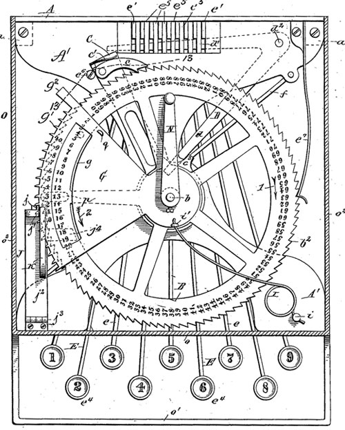The patent drawing of Gubelmann