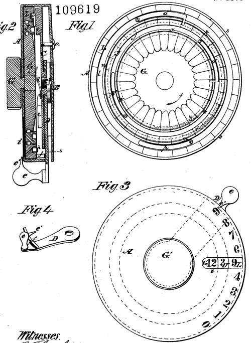 The patent drawing of Henry House