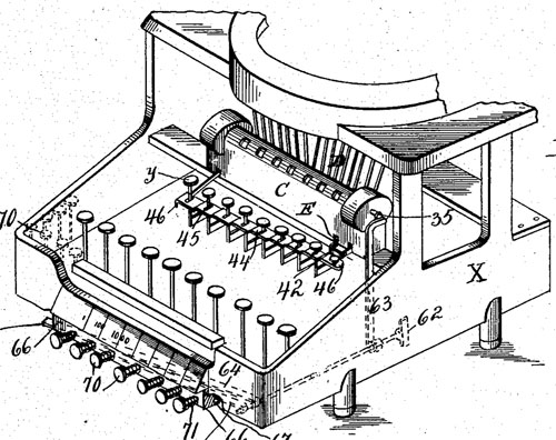 The patent drawing of the second calculating machine of Labofish