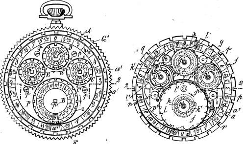 Georges Lafond adding machine patent drawing
