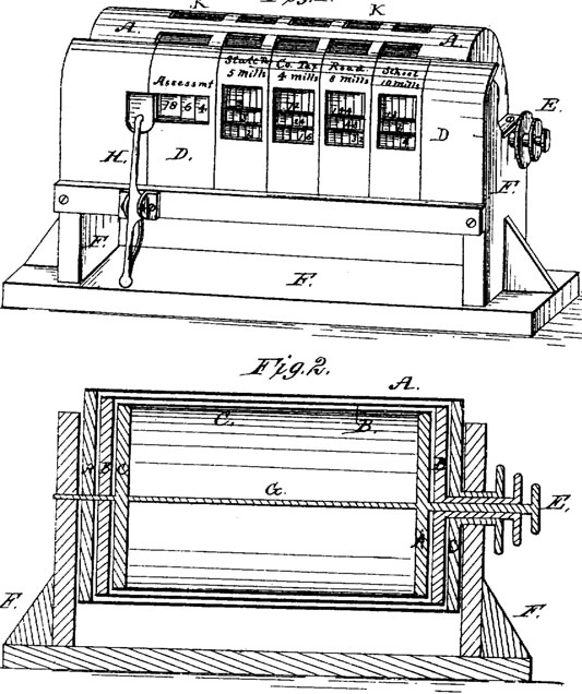 The patent drawing of Niels Larsen