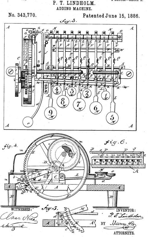 Lindholm patent drawing