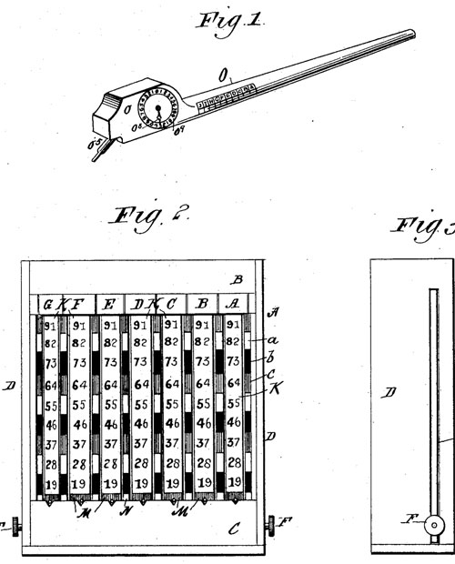 The patent drawing of second third machine of Moore