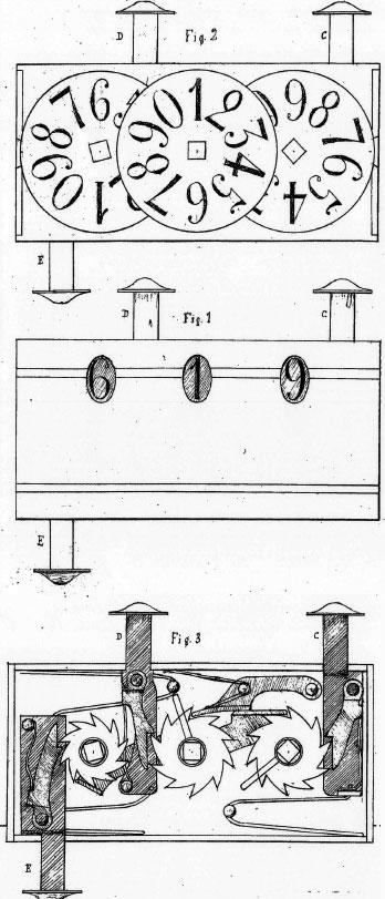 Second machine of Petetin - patent drawing