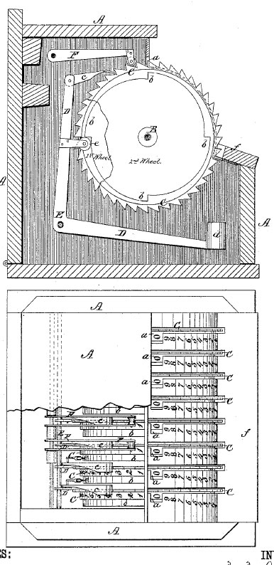 The patent drawing of Reuben James