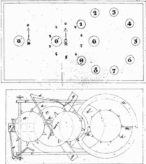 The patent drawing of Martial Roussel