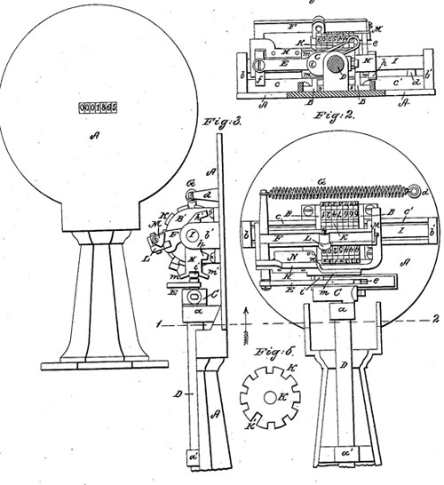 The patent drawing of Samuel Comfort