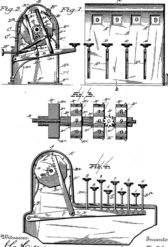 The patent drawing of Samuel Webb