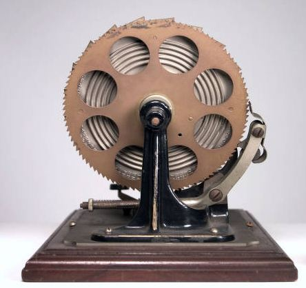 The Centigraph Adding Machine-back view