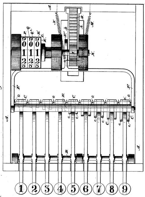 The calculating machine of William Snelling