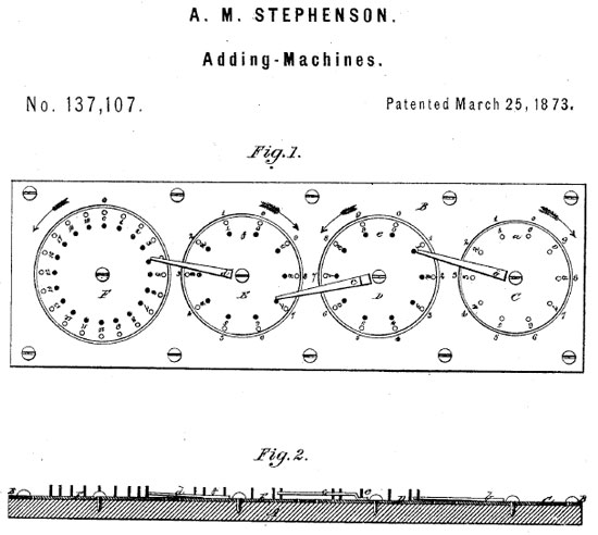 The patent drawing Stephenson