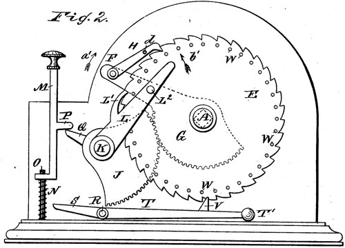 The patent drawing of Albert Stettner US patent