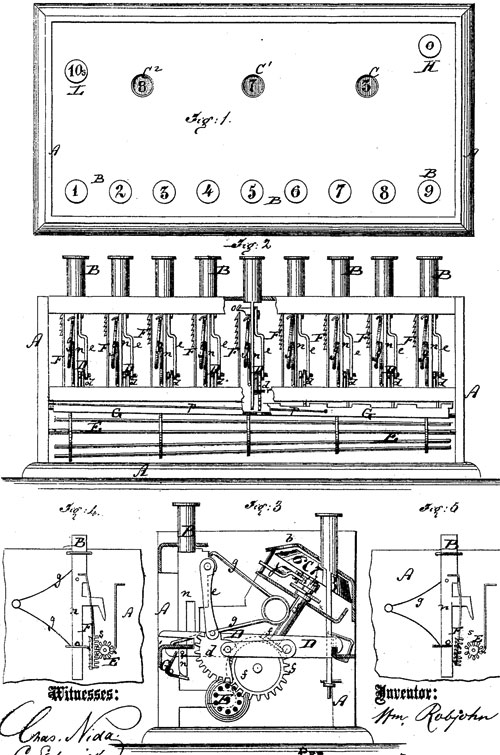 The patent drawing of the William Robjohn