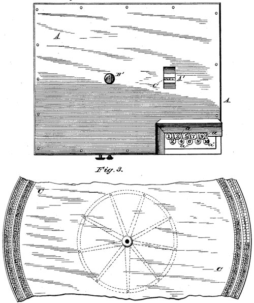 The first page from the patent drawing of the machine of Winter and Crary