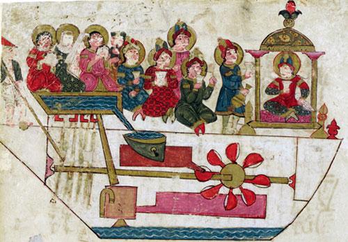 The musical automaton of Al-Jazari