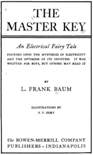 The title page of The Master Key