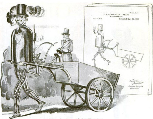 The Steam Man of Dederick and Grass in Popular Science Monthly