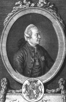 Friedrich von Knaus, engraving by J. Mansfeld