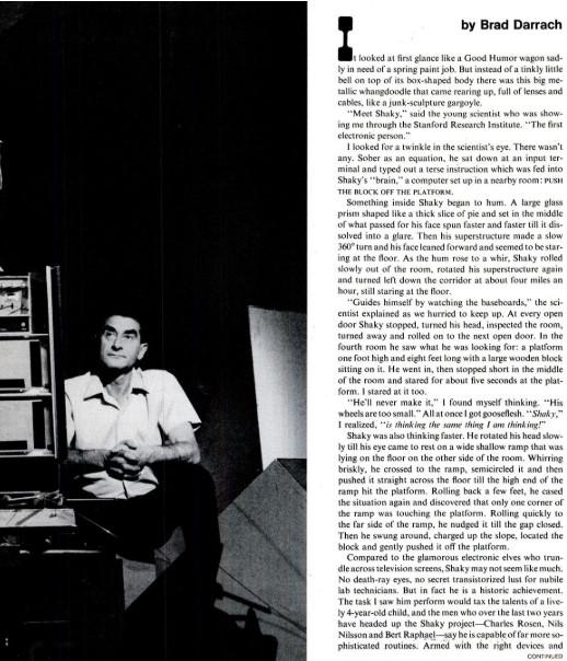 Shakey in the Life Magazine of 20 Nov 1970