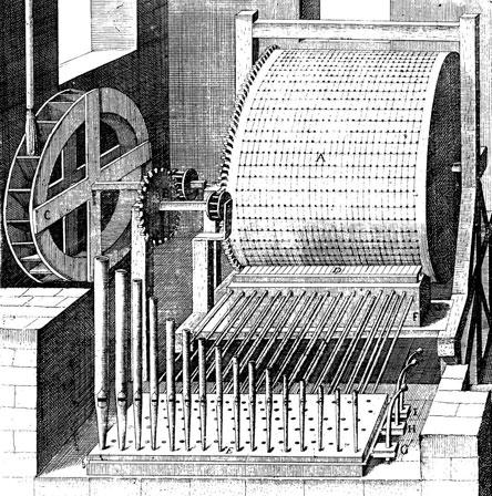water-driven organ, desgined for Hortus_Palatinus