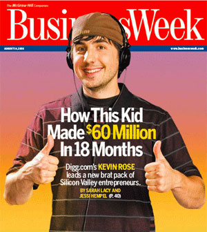 Kevin Rose on the cover of Business Week