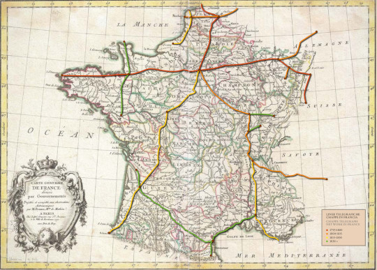 Chappe Telegraph Network in France