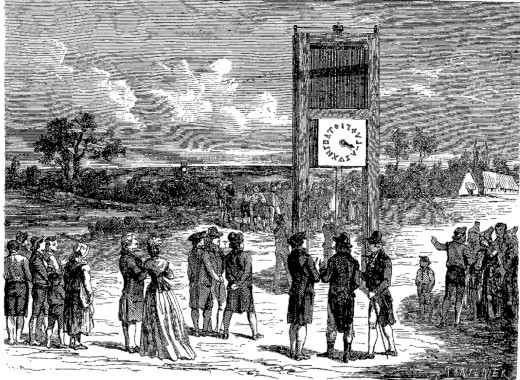 The first public demonstration of Chappe
