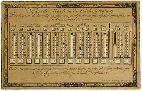 Arithmetical machine of Caze