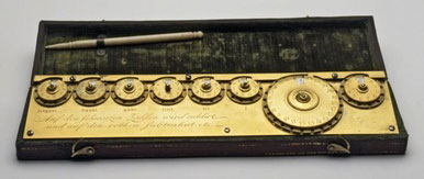 The calculating machine of Jacob Auch