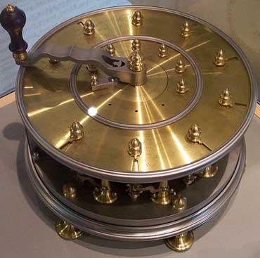 A modern replica of the calculating machine of Leupold