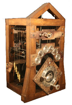A photo of the calculating machine of Giovanni Poleni