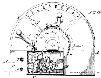 The Arithmometer of Frank Baldwin-patent drawing