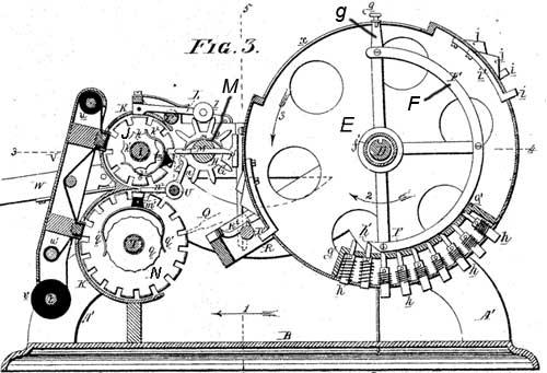 The pin-wheel machine of Frank Baldwin