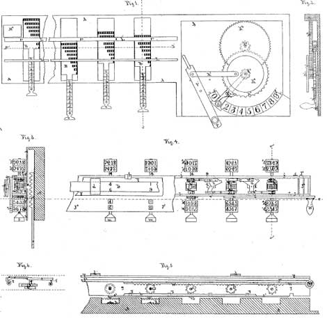 The patent drawing of the second machine of Barbour