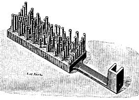 A bar from multypling machine of Bollée