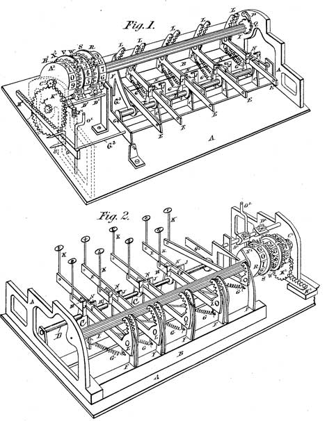 The patent drawing of the Bouchet