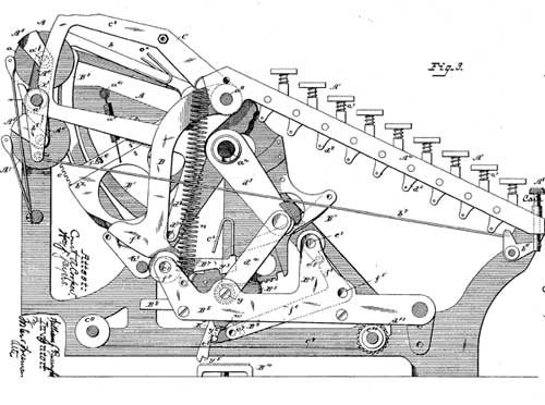 The first patent of Burroughs