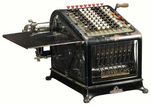 Burroughs Adding Machine, Class 1, Model 9